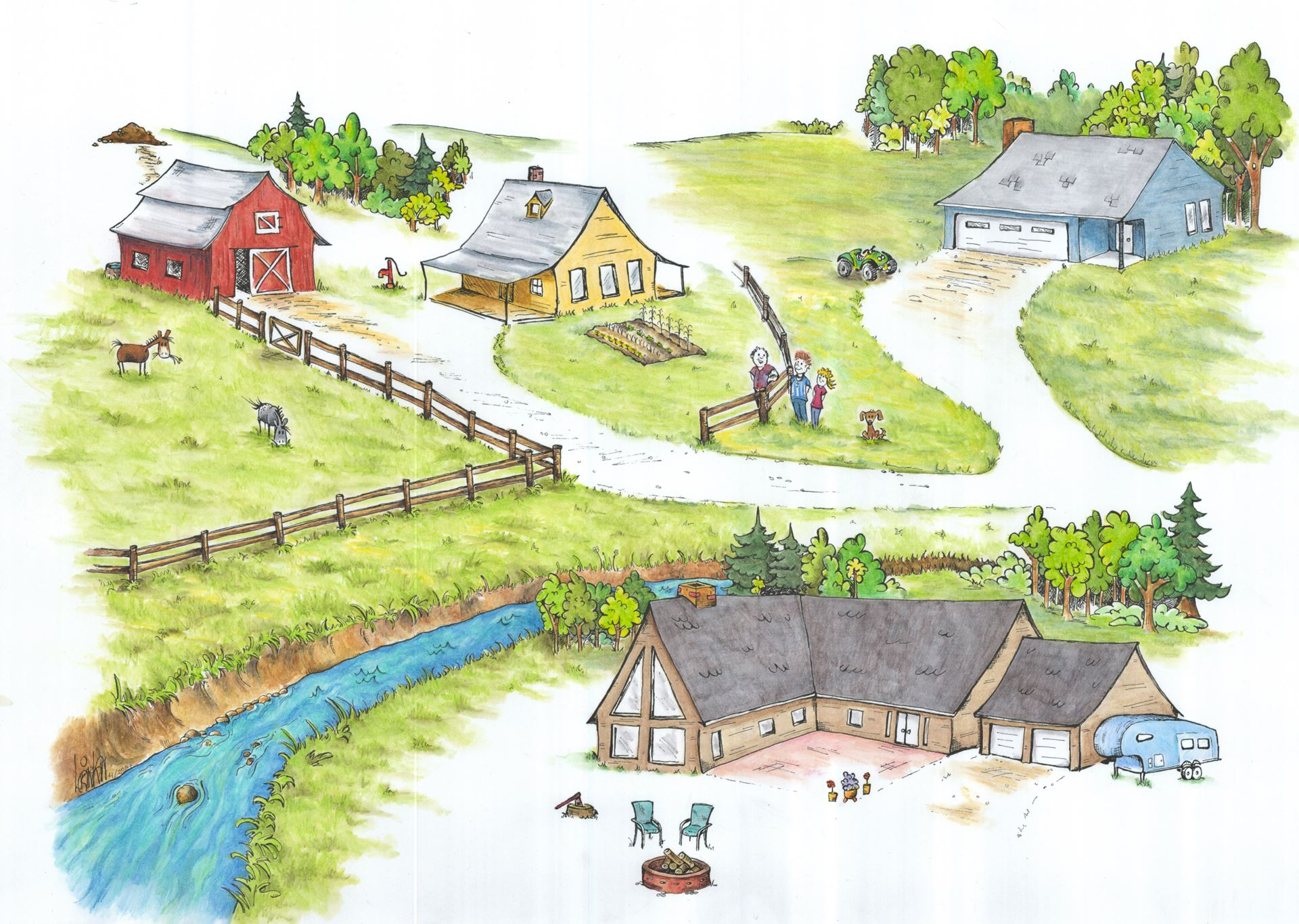 Green Acreages - Painting